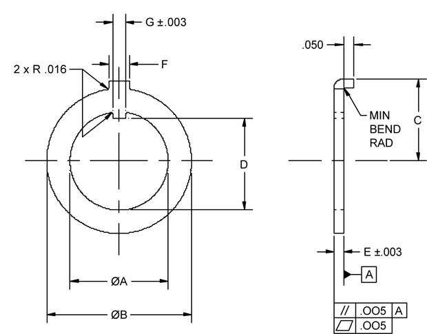 key washer p//n MS25081-4 lock New steel